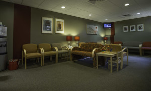 Comfortable, intimate waiting room for family